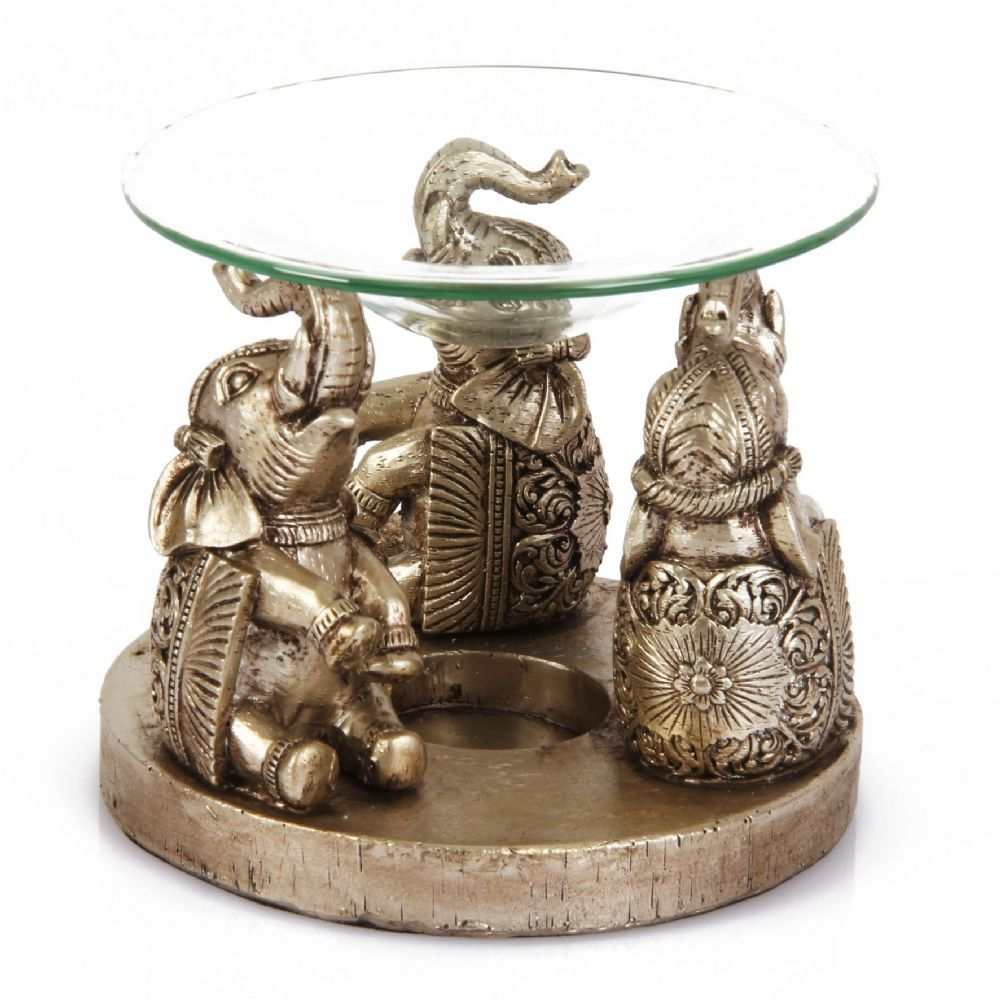 Fill your home with fragrance with this unique elephant design wax melt and oil burner.